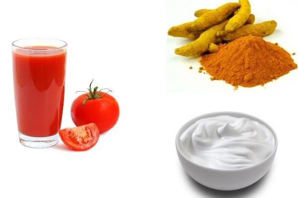 ماسک گوجه فرنگی و زردچوبه