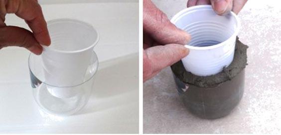 عکس روش ساخت گلدان سیمانی استوانه ای