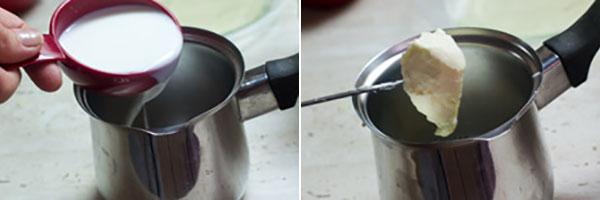 گرم کردن شیر و کره