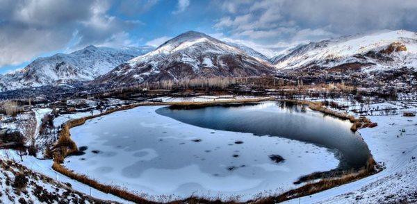 دریاچه اوان در زمستان