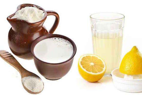 ماسک شیر خشک و آبلیمو