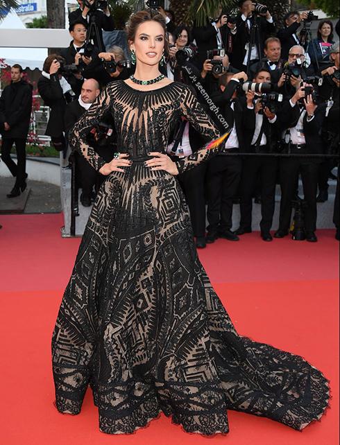 بهترین مدل لباس در جشنواره کن 2018 Cannes - آلساندرا آمبرسیو Alessandra Ambrosio,مدل لباس,جشنواره کن,جشنواره کن 2018,بهترین مدل لباس در جشنواره کن 2018,مدل لباس های برتر در جشنواره کن 2018