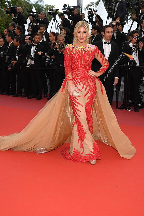 بهترین مدل لباس در جشنواره کن 2018 Cannes - هافیت گولن Hofit Golan,مدل لباس,جشنواره کن,جشنواره کن 2018,بهترین مدل لباس در جشنواره کن 2018,مدل لباس های برتر در جشنواره کن 2018