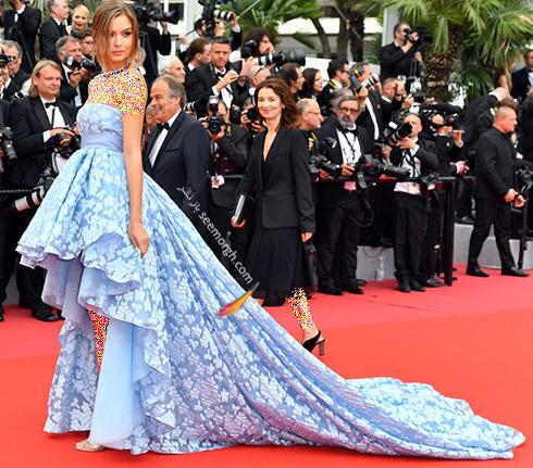 بهترین مدل لباس در جشنواره کن 2018 Cannes - ژوزفین اسکریور Josephine Skriver,مدل لباس,جشنواره کن,جشنواره کن 2018,بهترین مدل لباس در جشنواره کن 2018,مدل لباس های برتر در جشنواره کن 2018