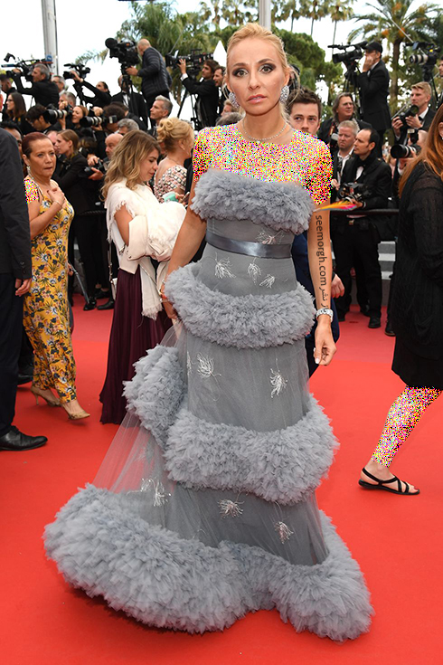 بهترین مدل لباس در جشنواره کن 2018 Cannes - تاتیانا ناوکا Tatiana Navka,مدل لباس,جشنواره کن,جشنواره کن 2018,بهترین مدل لباس در جشنواره کن 2018,مدل لباس های برتر در جشنواره کن 2018