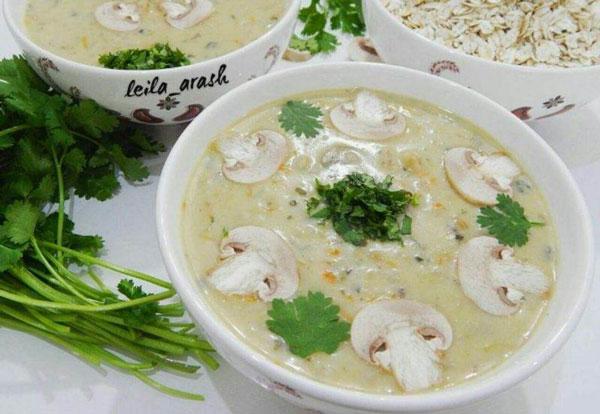 طرز تهیه سوپ جو - سوپ شیر - سوپ جو با سس سفید