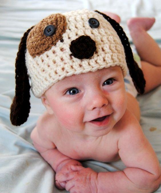 مدل کلاه بافتنی بچه گانه به شکل سگ