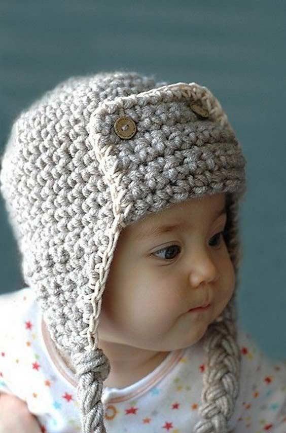 مدل کلاه بافتنی بچه گانه رو گوشی