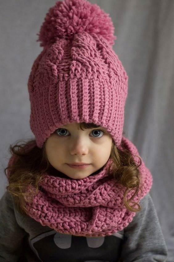 مدل کلاه بافتنی بچه گانه ساده
