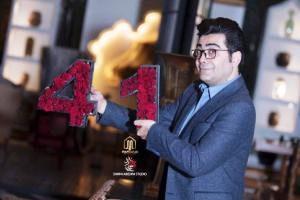 بهاره رهنما و همسرش در جشن تولد ۴۱ سالگی فرزاد حسنی