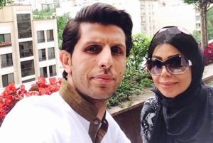 تبریک وحید طالب لو برای تولد همسرش