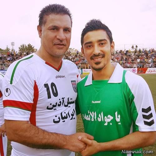 علی دایی به همراه رضا قوچان نژاد