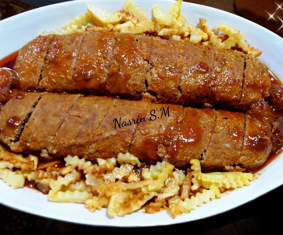 طرز پخت رولت مرغ و گوشت