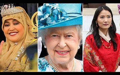 معرفی ملکه های حال حاضر دنیا و  تاج هاي آنها