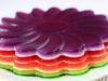 دستور پخت ژله رنگین کمان