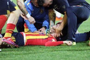 مصدومیت بسیار شدید و خطرناک بازیکن لچه در رقابتهای سری ب ایتالیا