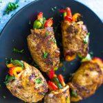 پخت دلمه مرغ (با سینه و ران مرغ)
