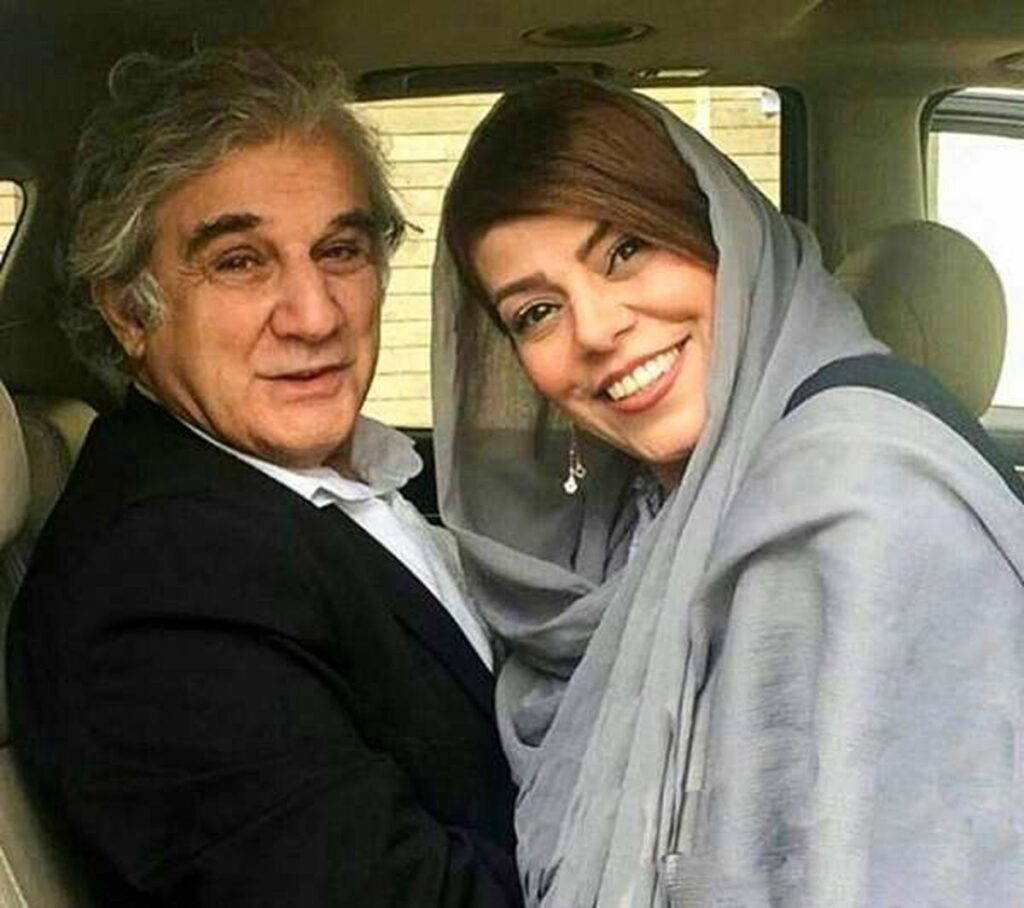 مهنوش صادقی و همسرش