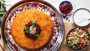 دستور پخت ته چین مرغ و بادمجان