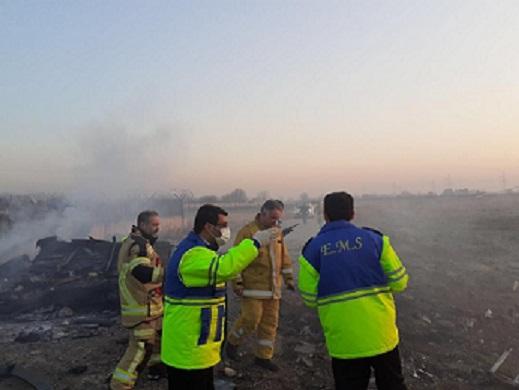 سقوط یک فروند هواپیمای اوکراینی