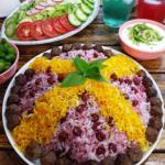 آلبالو پلو /طرز تهیه آلبالو پلو خوش رنگ و خوشمزه با گوشت مرغ و کوفته قلقلی