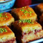 کیک باقلوا/ طرز تهیه کیک باقلوا بسیار خوشمزه و خوش عطر