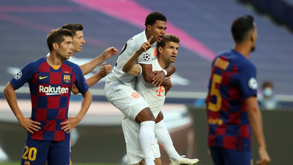 شکست بارسلونا مقابل بایرن مونیخ!