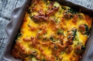سوفله سبزیجات و پنیر