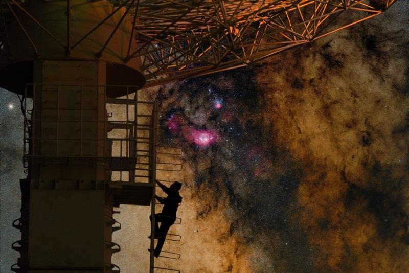 «قلب کهکشان را مشاهده کن» اثر: تیان لی