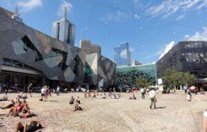 میدان فدراسیون در ملبورن استرالیا