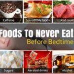 10ماده غذایی که هرگز قبل از خواب نخورید