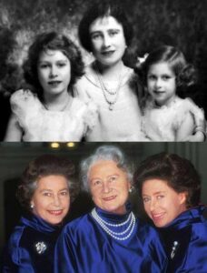 مادر وخواهر ملکه الیزابت دوم