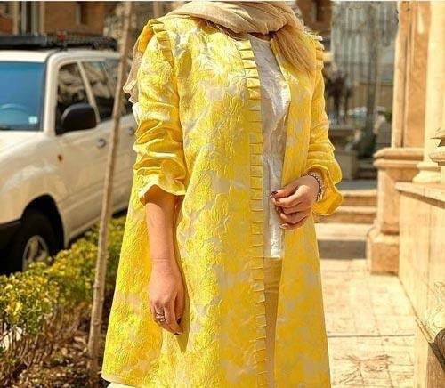 مانتو زرد رنگ سال ۲۰۲۱