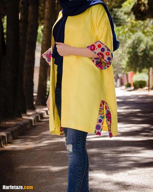 مانتو سنتی زرد رنگ سال ۲۰۲۱