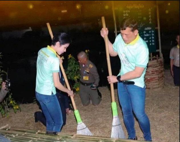 جارو کشی پادشاه تایلند و معشوقه جنجالی اش در زندان!