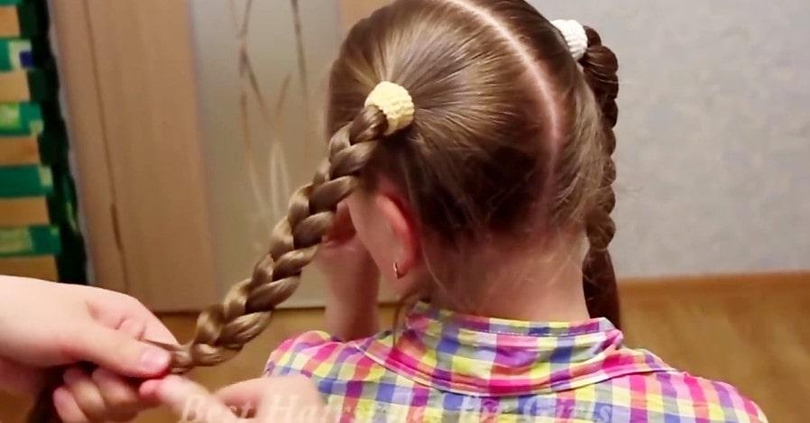 بستن موی دختر