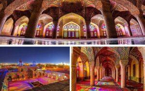 مسجد نصیر الملک در شیراز ، ایران