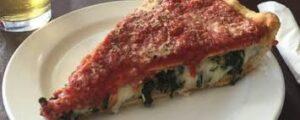 پیتزا اسفناج و قارچ