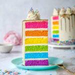 کیک رنگین کمان/ طرز تهیه کیک رنگین کمان خوشمزه