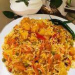 پلو سبزیجات/ طرز تهیه پلو هندی خوشمزه با سبزیجات , مخصوص گیاه خوران
